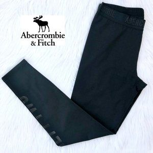ABERCROMBIE & FITCH black leggings with logo NWOT